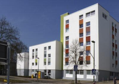 Fassadenbau – Studentenwohnheim der Uni Düsseldorf