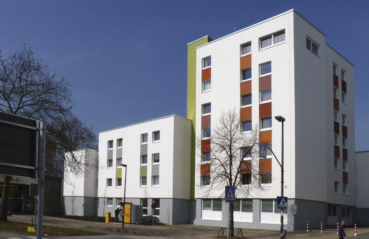 01 Duesseldorf 07 2010 Fassadenbau Studentenwohnheim Uni Ceranski