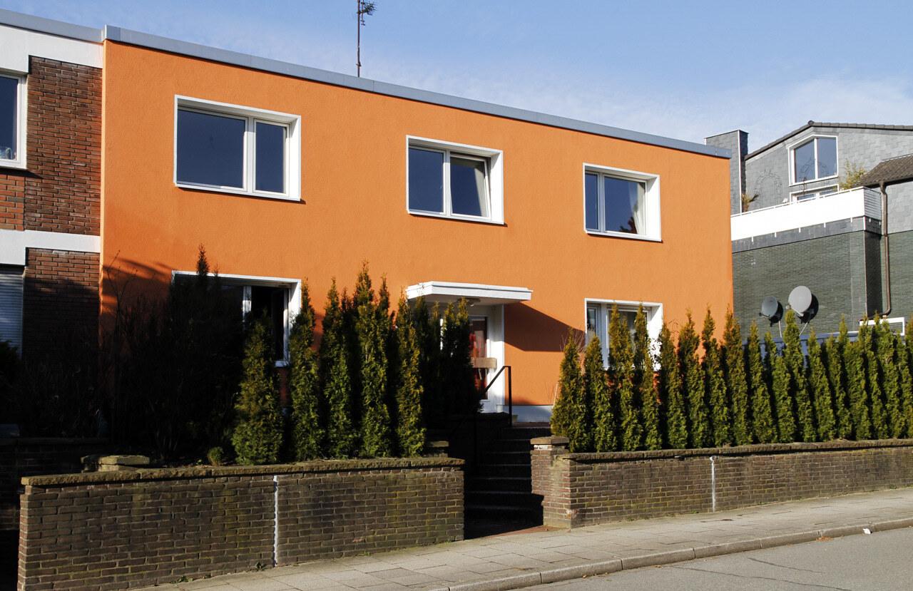 02 Bochum 05 2010 Fassadenbau energetische Sanierung Einfamilienhaus Ceranski