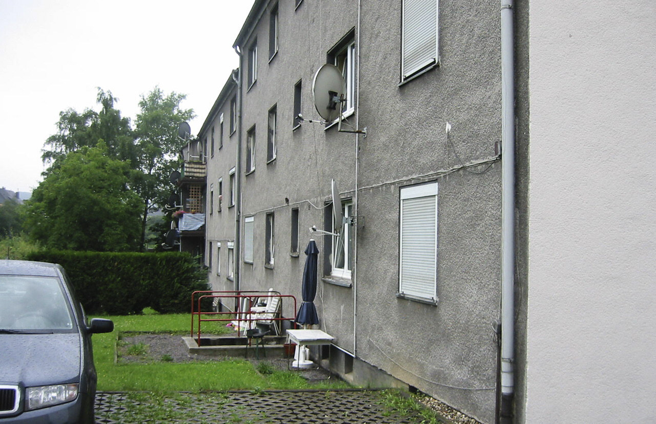 02 Schwelm 10 2008 Bauphase Fassadenbau Mehrfamilienhaus Ceranski