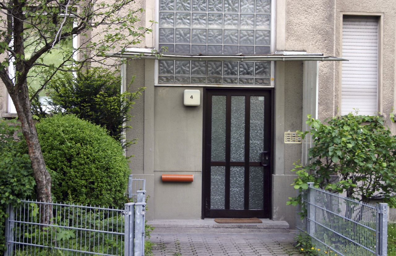 03 Koeln 05 2005 Bauphase Fassadenbau Waermedaemmung Mehrfamilienhauser Ceranski