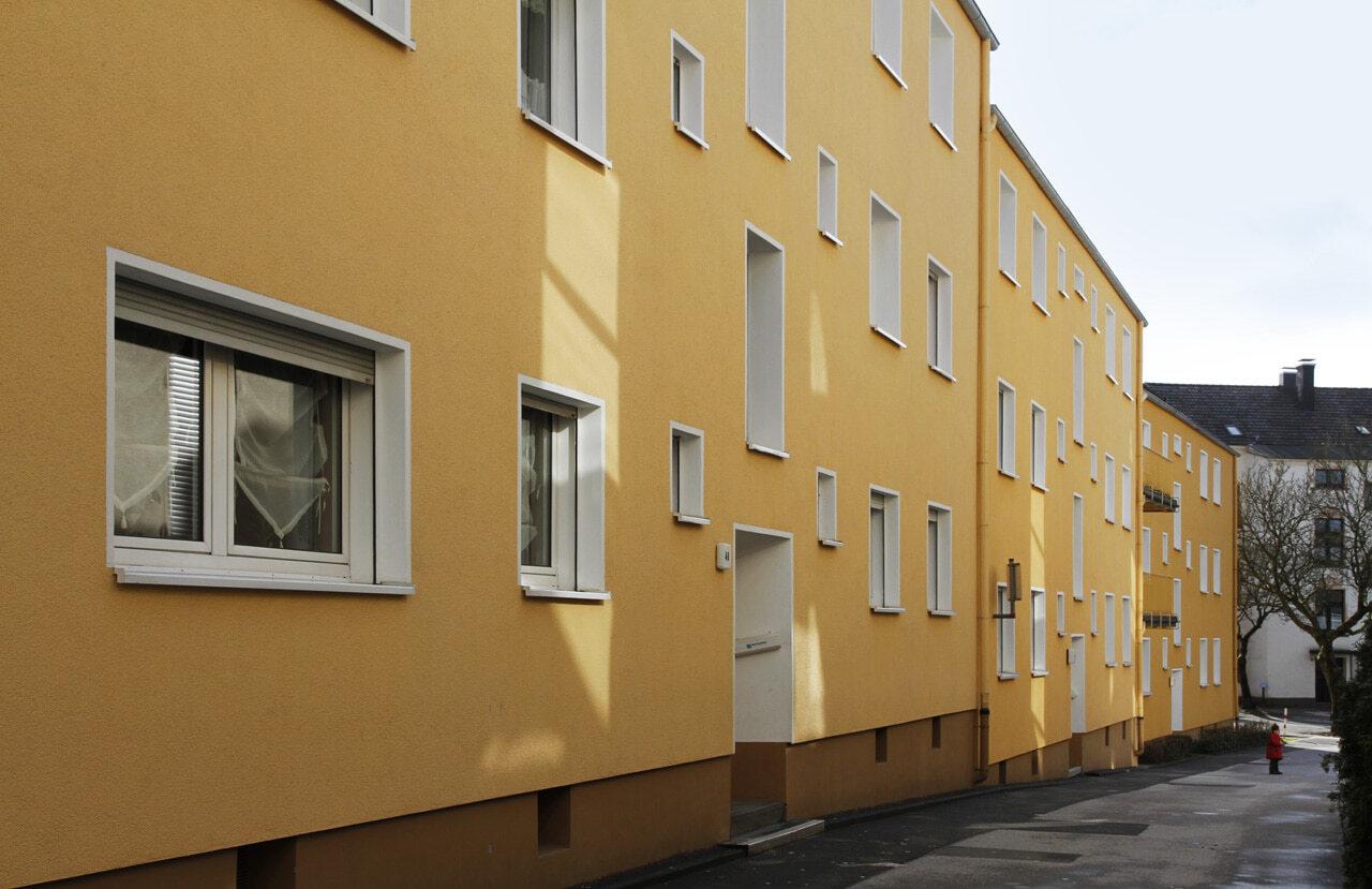 03 Schwelm 10 2008 Fassadenbau Mehrfamilienhaus Ceranski