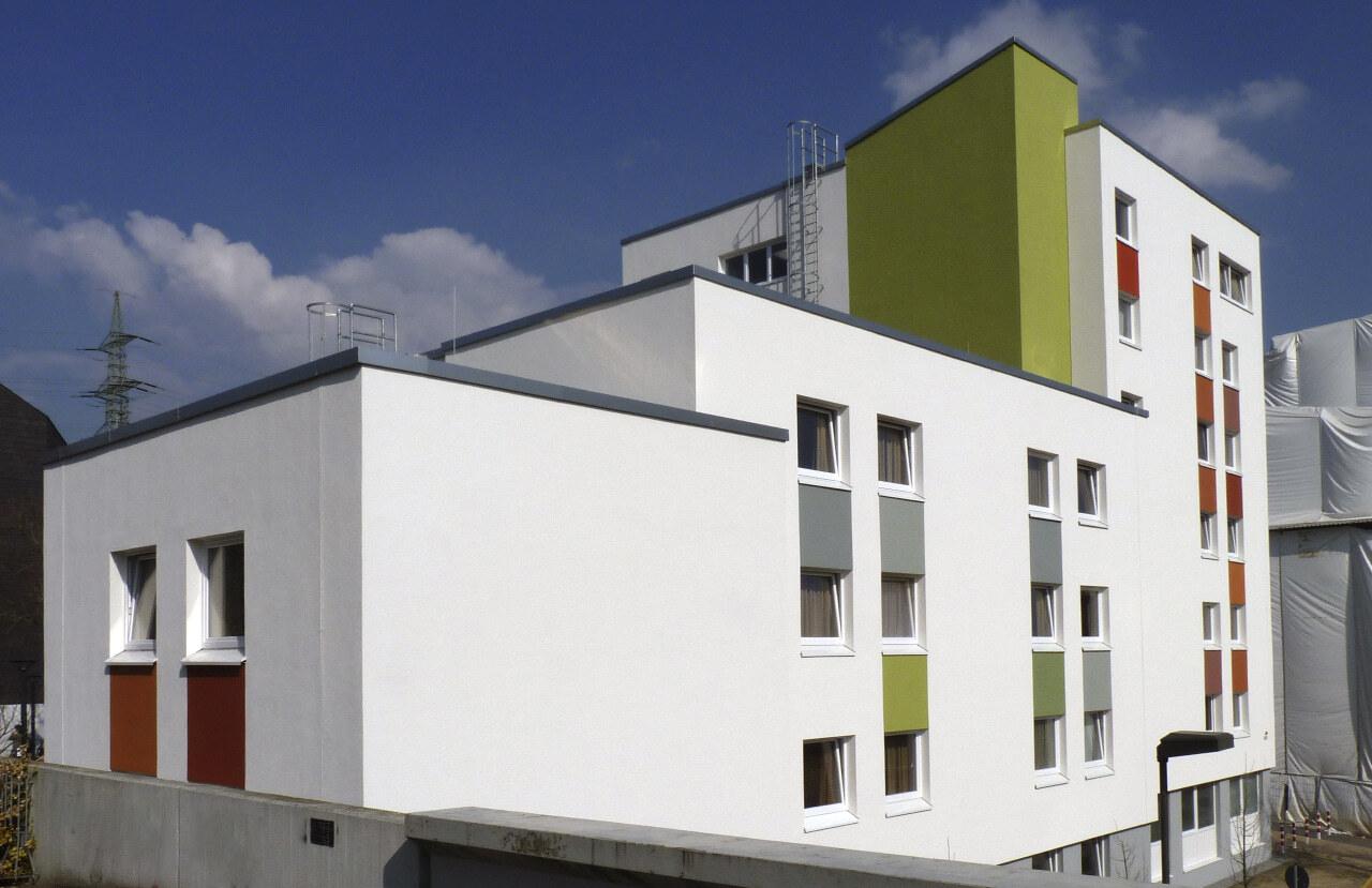 04 Duesseldorf 07 2010 Fassadenbau Studentenwohnheim Uni Ceranski