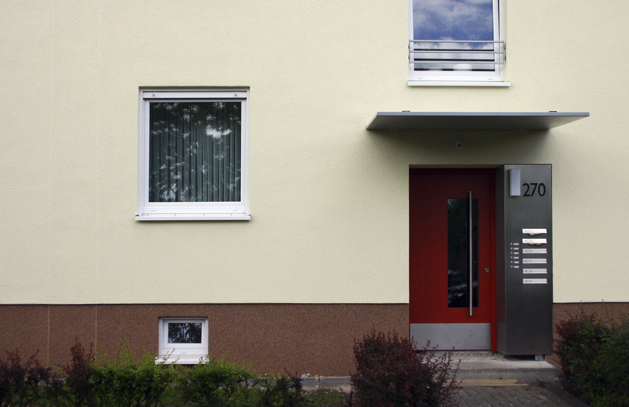 07 Koeln 05 2005 Fassadenbau Waermedaemmung Mehrfamilienhauser Ceranski
